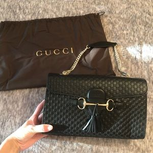 Gucci Black Medium Emily Bag